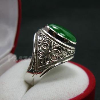 แหวนหยก แหวนผู้ชาย แหวนแกะลายไทย #3