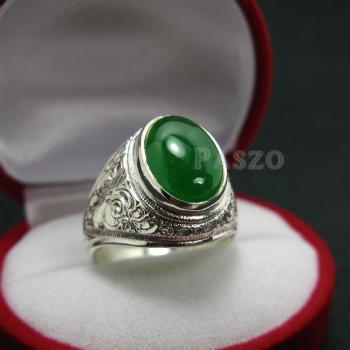 แหวนหยก แหวนผู้ชาย แหวนแกะลายไทย #4