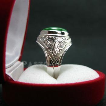 แหวนหยก แหวนผู้ชาย แหวนแกะลายไทย #5