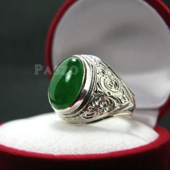 แหวนหยก แหวนผู้ชาย แหวนแกะลายไทย #6