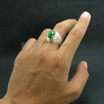 แหวนหยก แหวนผู้ชาย แหวนแกะลายไทย #7