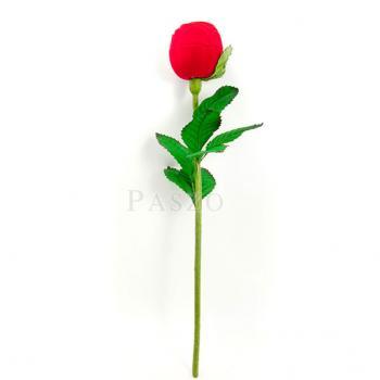 กล่องใส่แหวน วานเลนไทน์ ดอกกุหลาบก้านและใบ #3