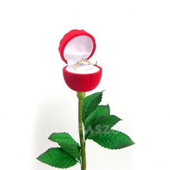 กล่องใส่แหวน วานเลนไทน์ ดอกกุหลาบก้านและใบ #4