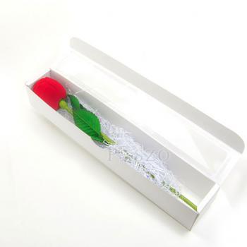 กล่องใส่แหวน วานเลนไทน์ ดอกกุหลาบก้านและใบ #6