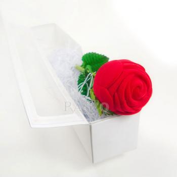 กล่องใส่แหวน วานเลนไทน์ ดอกกุหลาบก้านและใบ #8
