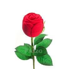 กล่องใส่แหวน วานเลนไทน์ ดอกกุหลาบก้านและใบ กล่องใส่เครื่องประดับ