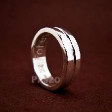 แหวนเซาะร่อง หน้ากว้าง6มิล แหวนเงินแท้ แหวนเกลี้ยง