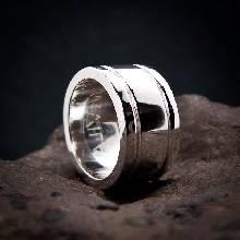 แหวนเซาะร่อง หน้ากว้าง12มิล หนา3มิล แหวนเงินแท้ แหวนเกลี้ยง