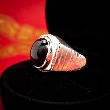 แหวนนิล แหวนผู้ชาย แหวนเงินแท้ ฝังนิล พลอยสีดำ