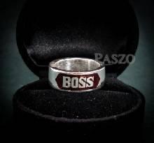 แหวนนามสกุล หน้ากว้าง8มิล แหวนลงยาสีแดง แหวนนามสกุลไม่แกะลาย แหวนเงิน แหวนปลอกมีด