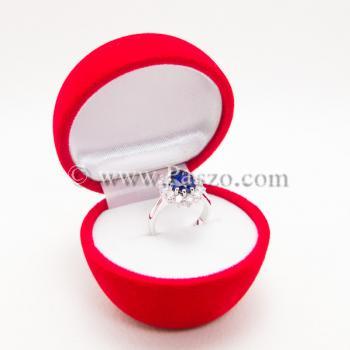 กล่องใส่แหวน รูปแอปเปิ้ล กล่องกำมะหยี่ #3