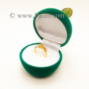 กล่องใส่แหวน รูปแอปเปิ้ล กล่องกำมะหยี่ #6