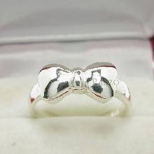 แหวนโบว์ แหวนโบว์หูกระต่าย แหวนโบว์มิกกี้เม้าส์ แหวนเงินแท้ 925