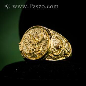 แหวนพญาครุฑ แหวนทอง90 แหวนทองผู้ชาย #8