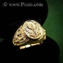 แหวนพญาครุฑ แหวนทอง90 แหวนทองผู้ชาย แหวนพญาครุฑ3องค์