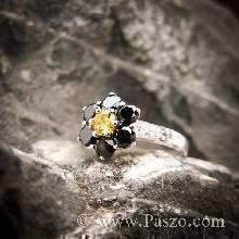 แหวนดอกไม้ แหวนดอกพิกุล แหวนผู้หญิง แหวนเงินแท้