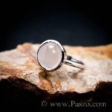 แหวนมุกดาหาร แหวนมูนสโตน แหวนเงินแท้ ฝังหุ้ม
