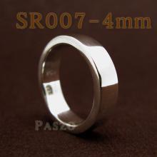 แหวนเกลี้ยงหน้าเรียบ กว้าง4มิล แหวนเงินขอบตรง แหวนเกลี้ยง แหวนปลอกมีด แหวนเงินเกลี้ยง