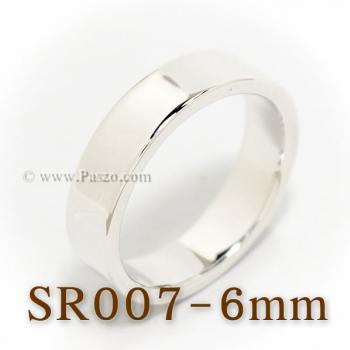 แหวนเกลี้ยงหน้าเรียบ กว้าง6มิล แหวนขอบตรง #4