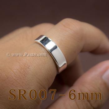 แหวนเกลี้ยงหน้าเรียบ กว้าง6มิล แหวนขอบตรง #2
