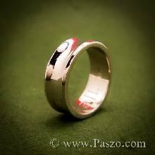 แหวนเงินเว้ากลาง หน้ากว้าง7มิล แหวนเงินแท้ แหวนเกลี้ยง