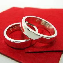แหวนคู่รัก แหวนเกลี้ยง แหวนหน้าเรียบ กว้าง4มิล กว้าง6มิล แหวนเงินแท้