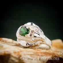 แหวนมรกต แหวนเงินแท้ แหวนพลอยสีเขียว