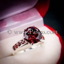 แหวนโกเมน แหวนชูพลอย แหวนเงินแท้