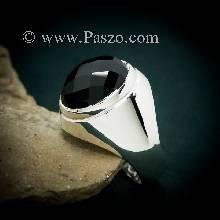 แหวนผู้ชายนิล แหวนพลอยสีดำ แหวนเงินแท้ นิล แหวนผู้ชาย