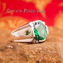 แหวนแห่งแสง แหวนมรกต แหวนพลอยสีเขียว แหวนสำหรับผู้ชายนิ้วเล็ก แหวนผู้ชาย