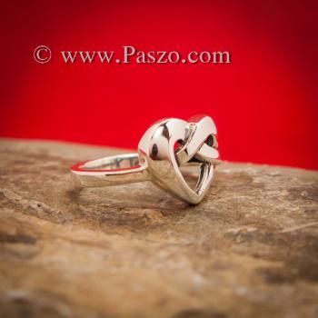 แหวนรูปหัวใจ แหวนเงิน แหวนแห่งความผูกพัน #2
