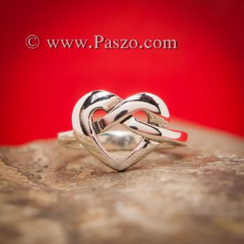 แหวนรูปหัวใจ แหวนเงิน แหวนแห่งความผูกพัน #5