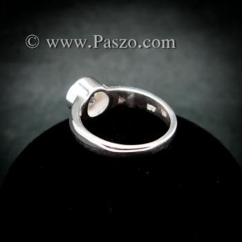 แหวนเพชร แหวนเงินแท้ แหวนเพชรเม็ดเดี่ยว #6