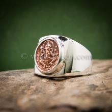 แหวนพระพิฆเนศ แหวนเงินแท้ แหวนทรงสี่เหลี่ยม แหวนผู้ชาย