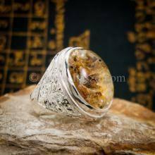 แหวนแก้วปวก แหวนพลอยผู้ชาย แหวนโป่งข่าม แหวนมอญ แกะสลักลายไทย แหวนเงินแท้ แหวนผู้ชาย