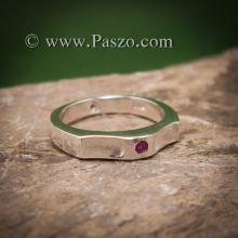 แหวนพลอยสีแดง แหวนเงิน ทับทิม พลอยสีแดง เม็ดเล็ก แหวนรุ่นเล็ก