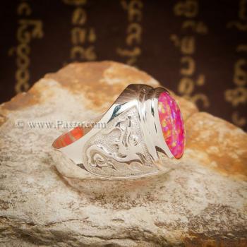 แหวนมังกร แหวนโอปอล แหวนผู้ชายเงินแท้ #2