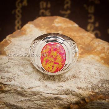 แหวนมังกร แหวนโอปอล แหวนผู้ชายเงินแท้ #3