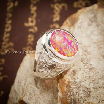 แหวนมังกร แหวนโอปอล แหวนผู้ชายเงินแท้ #4
