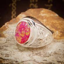 แหวนมังกร แหวนโอปอล แหวนผู้ชายเงินแท้ ฝังพลอยโอปอล์ แหวนผู้ชาย