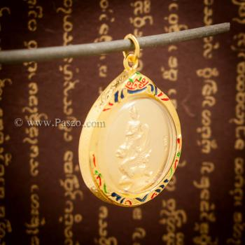 จี้พระราหูทรงครุฑ เหรียญพระราหูทรงครุฑ ลงยา #2