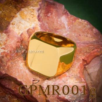 แหวนสี่เหลี่ยมหน้าเรียบ แหวนทองชุบ แหวนผู้ชาย #9