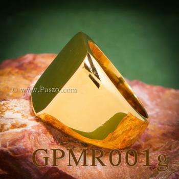 แหวนสี่เหลี่ยมหน้าเรียบ แหวนทองชุบ แหวนผู้ชาย #7
