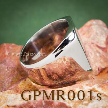 แหวนสี่เหลี่ยมหน้าเรียบ แหวนสแตนเลส แหวนผู้ชาย #8