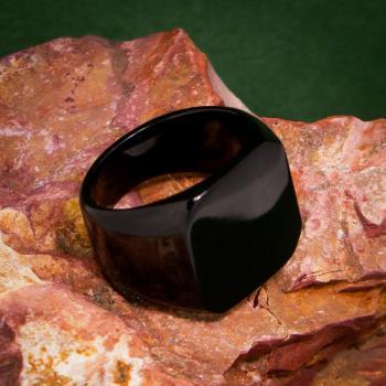 แหวนสี่เหลี่ยมหน้าเรียบ ชุบรมดำ แหวนผู้ชาย #5