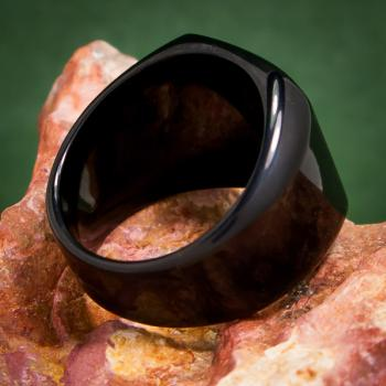 แหวนสี่เหลี่ยมหน้าเรียบ ชุบรมดำ แหวนผู้ชาย #3