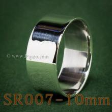 แหวนเกลี้ยงหน้าเรียบ กว้าง10มิล แหวนเกลี้ยง แหวนเงินขอบตรง แหวนปลอกมีด แหวนเงินเกลี้ยง