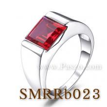 แหวนผู้ชายพลอยทับทิม แหวนผู้ชายพลอยสี่เหลี่ยม แหวนเงินแท้ แหวนพลอยแดง แหวนทับทิมผู้ชาย แหวนผู้ชาย
