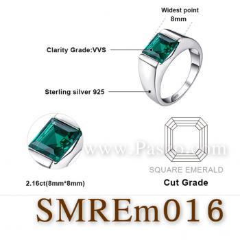 แหวนผู้ชายพลอยสีเขียว แหวนผู้ชายพลอยสี่เหลี่ยม แหวนผู้ชาย #4