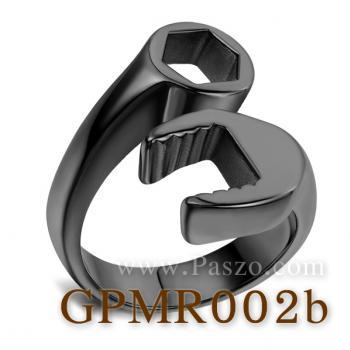 แหวนประแจ แหวนชุบรมดำ แหวนสแตนเลส #2